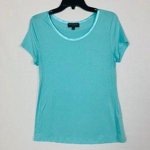 Banana Republic Luxe Touch Women Size M Aqua Shirt